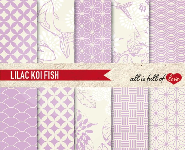 Lilac Background Patterns Japanese Digital Graphics example image 1