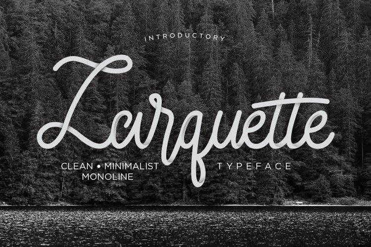Larquette Typeface example