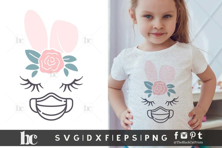 Easter SVG | Bunny Face Bunny Ears | Quarantined Easter SVG