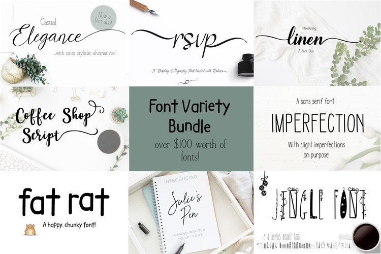 My Best Sellers Font Bundle Variety example image 1