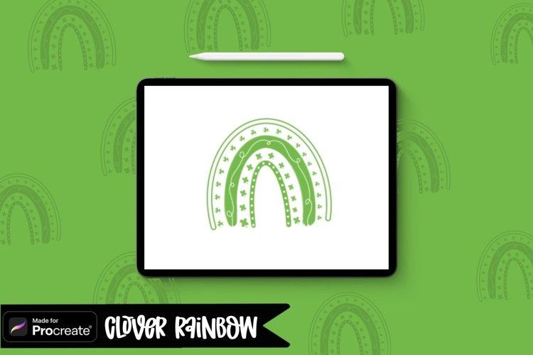 Rainbow Procreate Stamp Brush / St. Patricks Day Stamp Brush example image 1