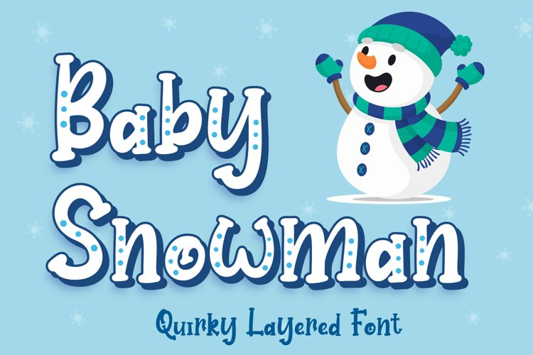 Baby Snowman - Display Font example image 1