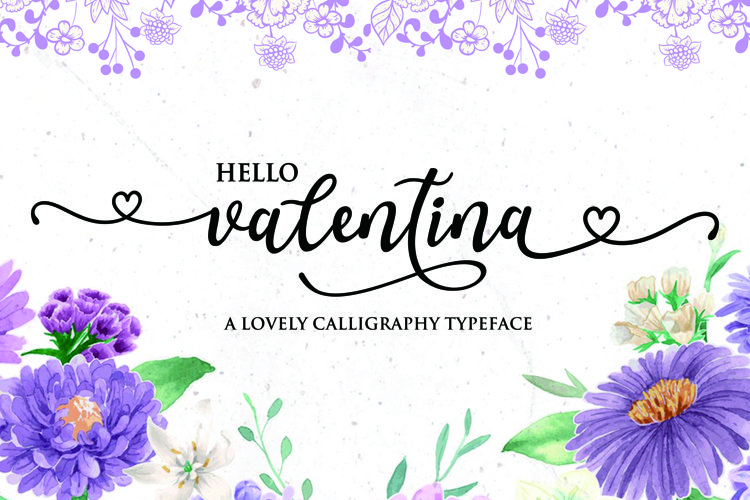 Valentina - a lovely callygraphy typeface example image 1