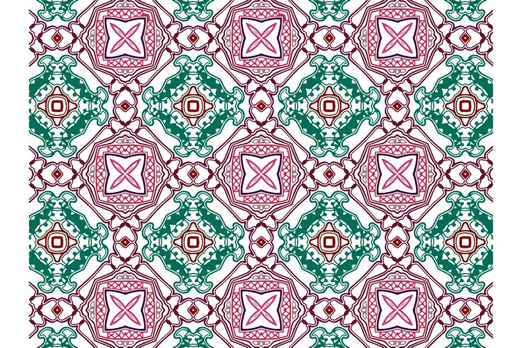 Pattern Abstract Green and Purple Color example image 1