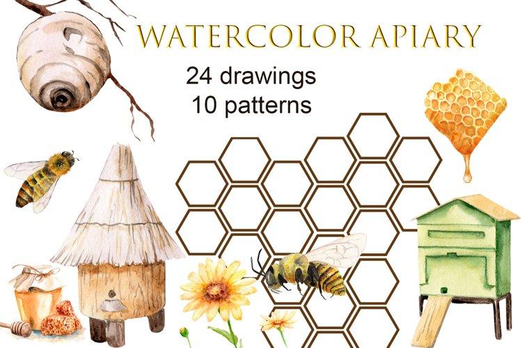 Watercolor apiary
