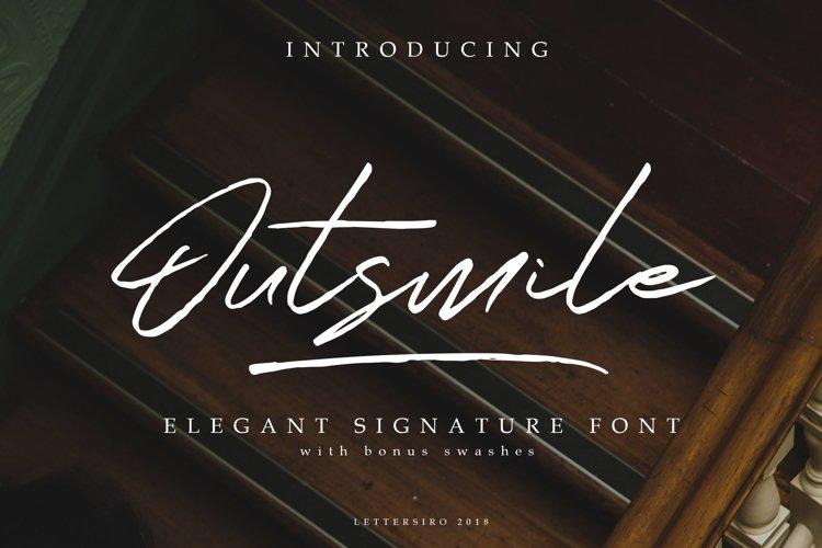 Outsmile Elegant Signature Font example image 1