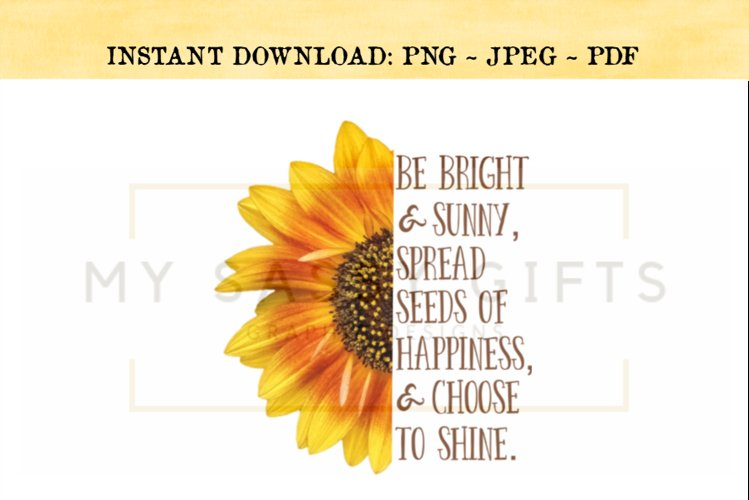 Inspirational Sunflower PNG Design example image 1
