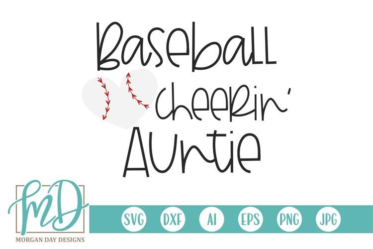Baseball Heart - Baseball Cheerin' Auntie SVG example image 1