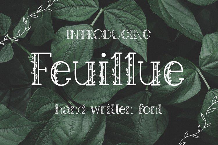 Feuillue | serif font example image 1