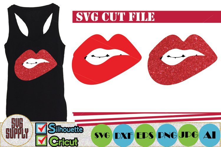Red Fashion Lips SVG Cut File