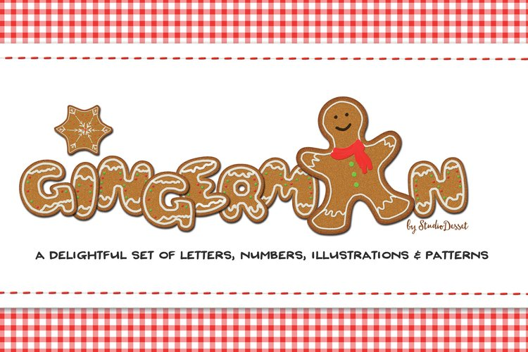 Gingerman Sublimation Bundle |Letters, Numbers, Illustration