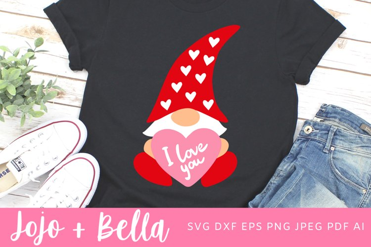 Love Gnome Svg | Gnome Svg | Valentine's Day Svg example image 1