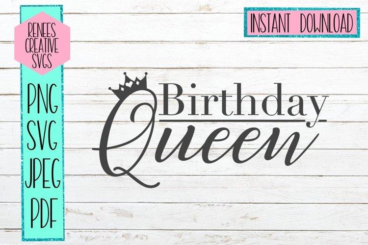 Birthday Queen| Birthday SVG | SVG Cutting File