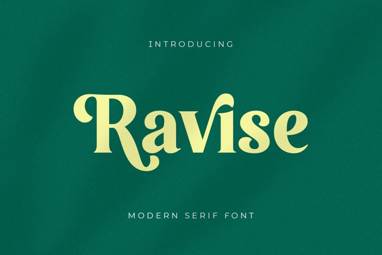 Ravise - Modern Serif