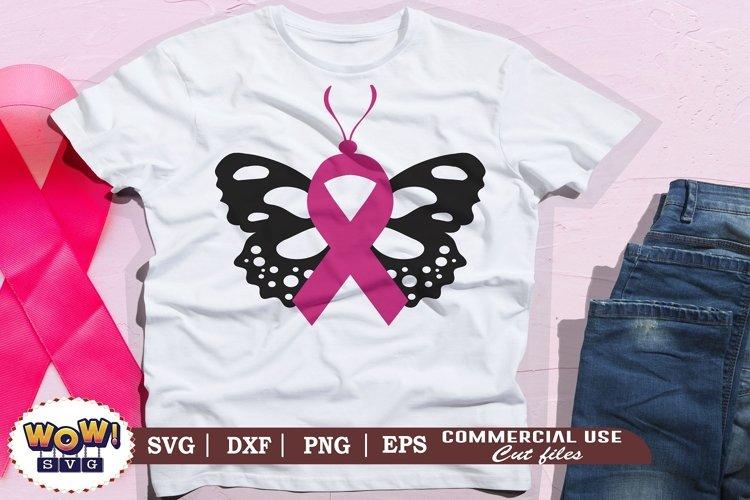 Butterfly svg, Breast Cancer svg, Cancer Awareness svg example image 1