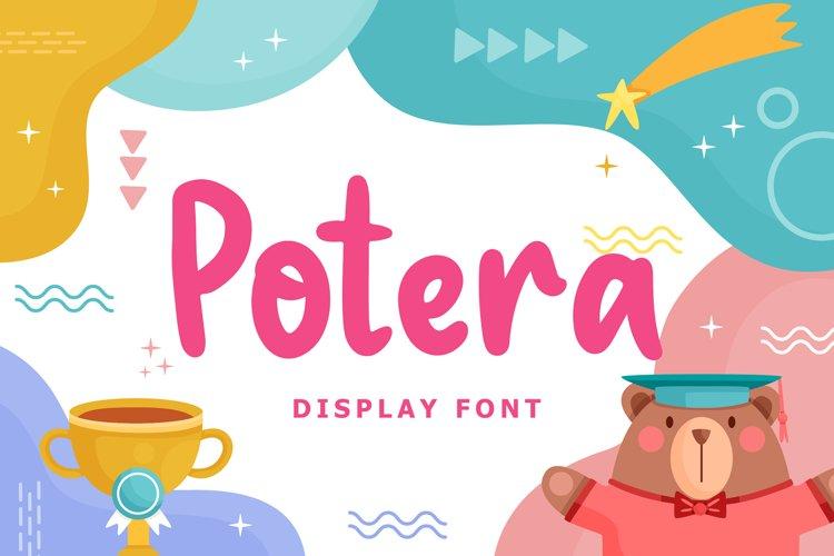 Potera Display Font example image 1