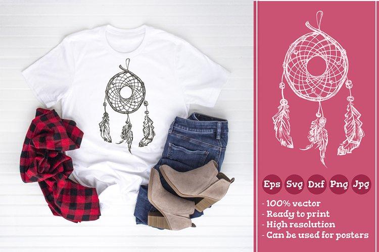 Indian Ethnic dream catcher T-shirt Illustration SVG File example image 1