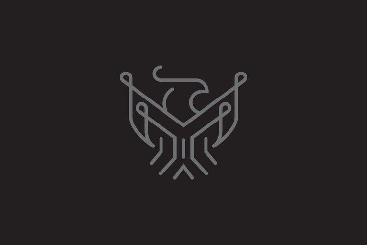 Eagle minimalist logo template example image 1