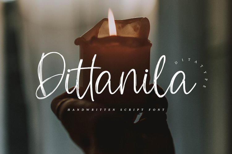 Dittanila-Beautiful Handwritten Font example image 1