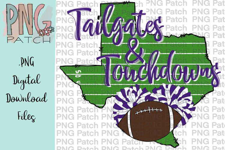 State of Texas Football Background Purple and White, PNG example image 1