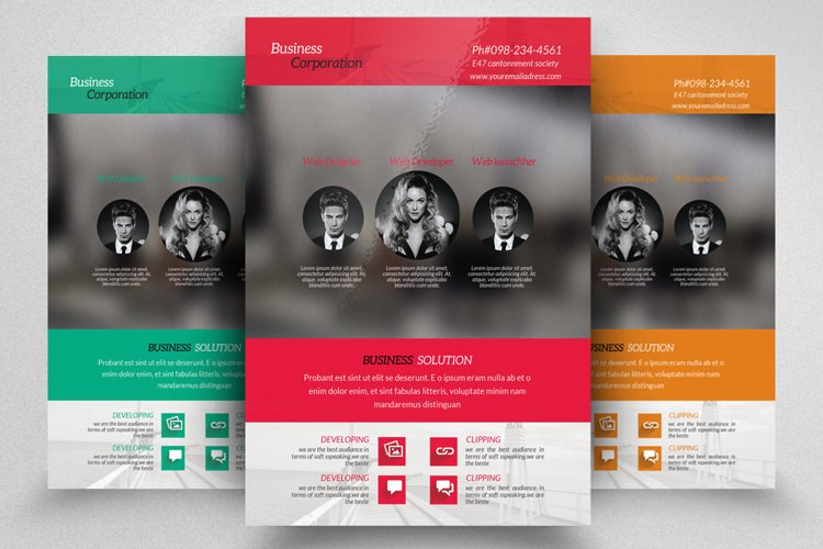 Professional Business Flyer Template example image 1