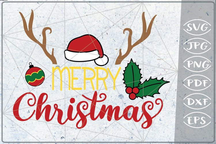 Merry Christmas SVG Reindeer Quote SVG Merry Christmas Quote example image 1