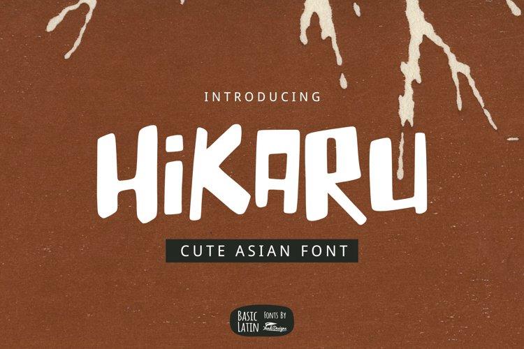 Hikaru Asian Font example image 1