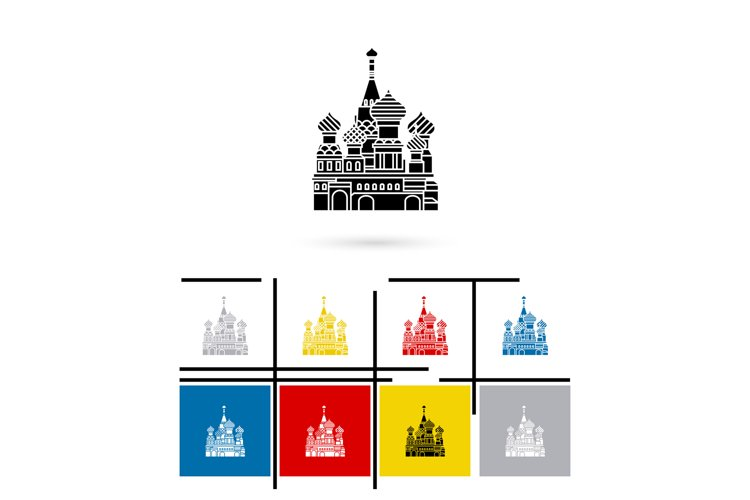 St Basil Cathedral icon vector example image 1