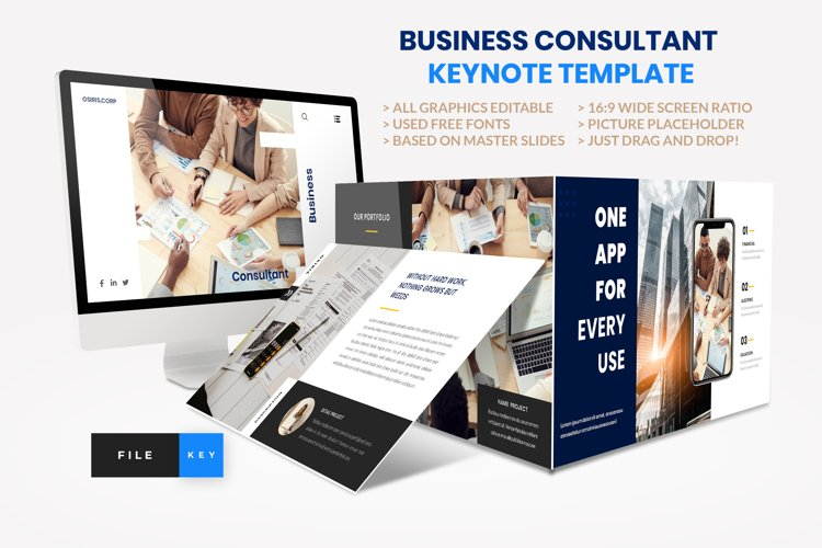 Business - Consultant Finance Keynote Template example image 1