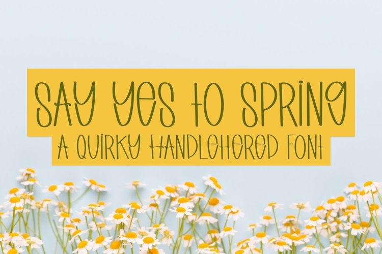 Web Font Say Yes to Spring - A Quirky Handlettered Font example image 1
