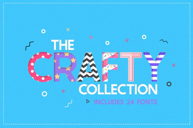 The Crafty Font Collection - 24 Fonts example image 1