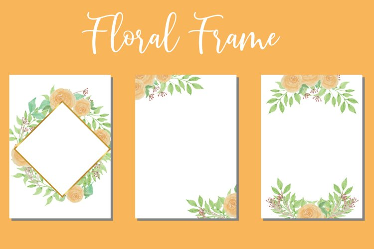 Floral Watercolor Wedding Invitations Set Card SVG example image 1
