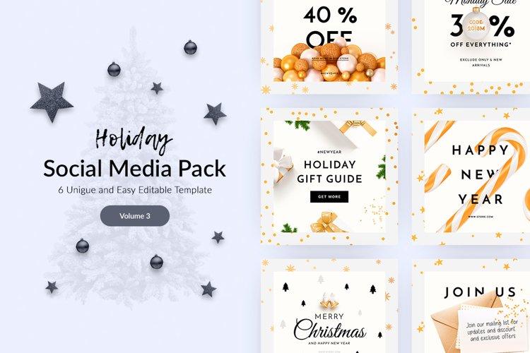 Holiday Social Media Pack vol.3