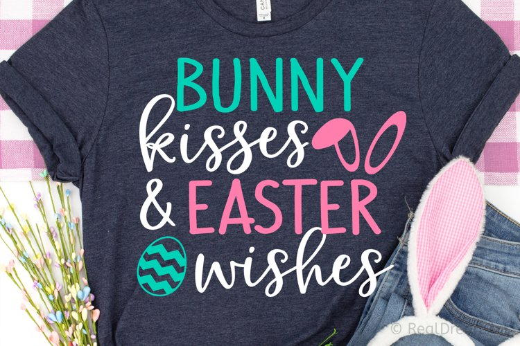 Bunny Kisses and Easter Wishes SVG, DXF, PNG, EPS