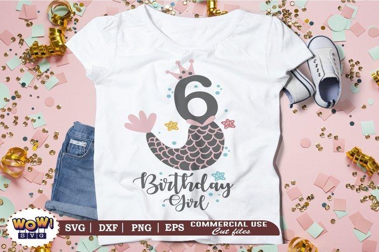 Sixth Birthday girl svg, Sixth birthday svg, 6th birthday