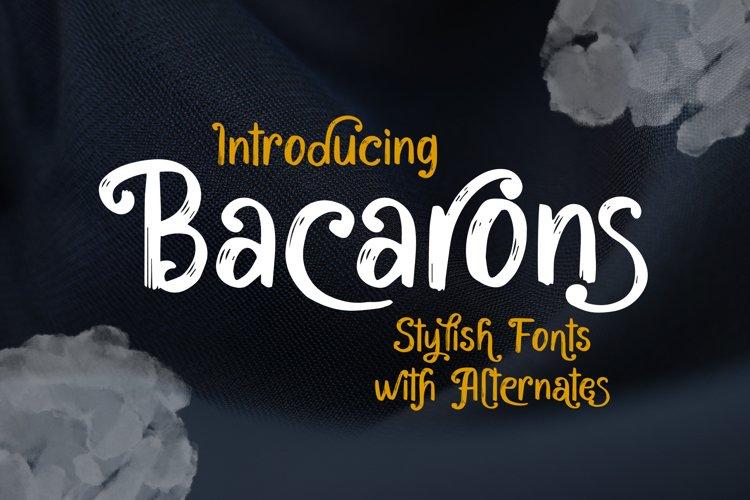 Bacarons - A Stylish Font With Alternatives