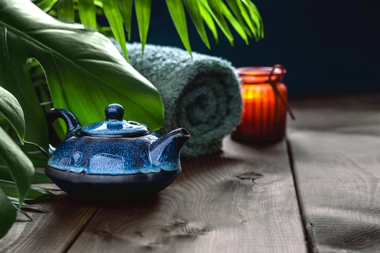 Traditional Asian tea ceremony arrangement. example image 1
