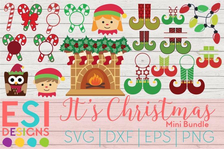 Christmas SVG   It's Christmas Mini Bundle   SVG DXF EPS PNG example image 1