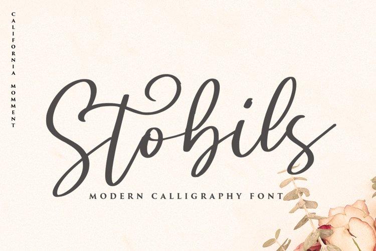 Stobils - Script Font example image 1