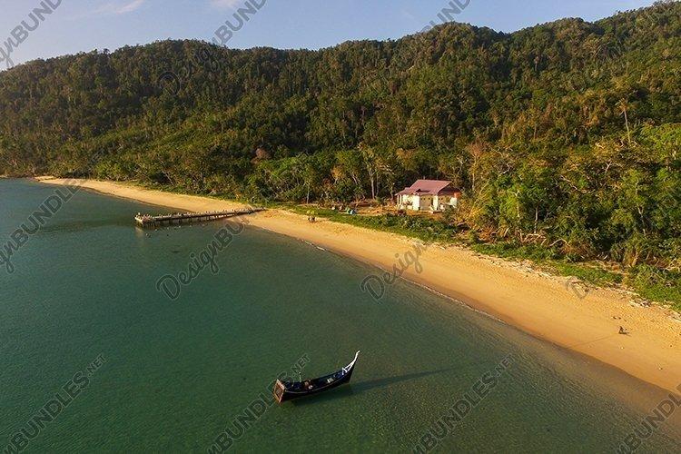 Small pier on a beautiful island