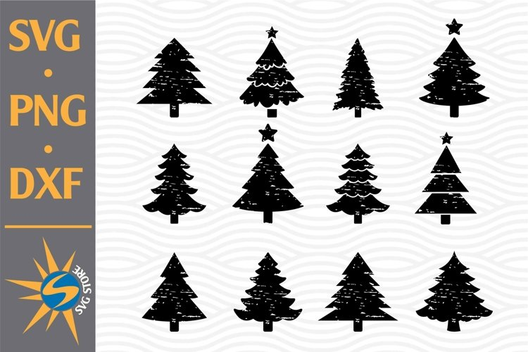 Distressed Christmas Tree SVG, PNG, DXF Digital Files Includ example image 1