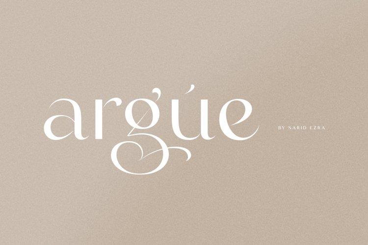 Argue - Stylish Font example image 1