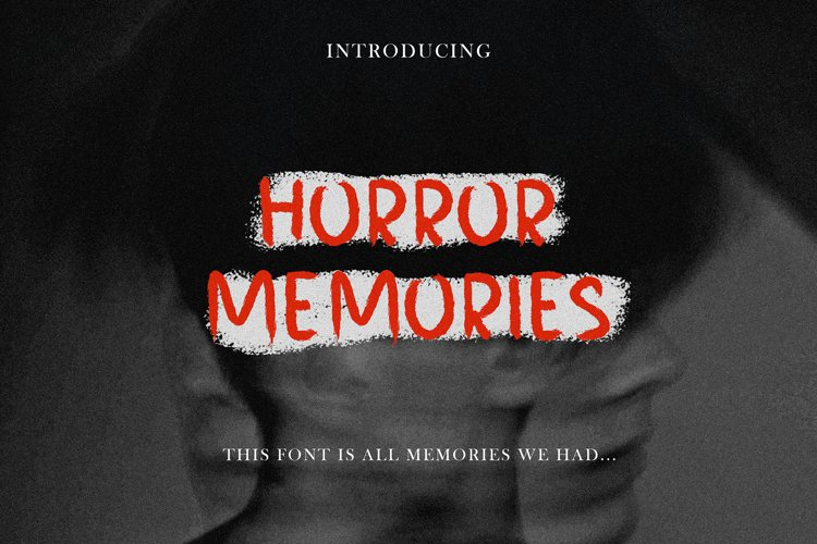 HORROR MEMORIES HORROR FONT