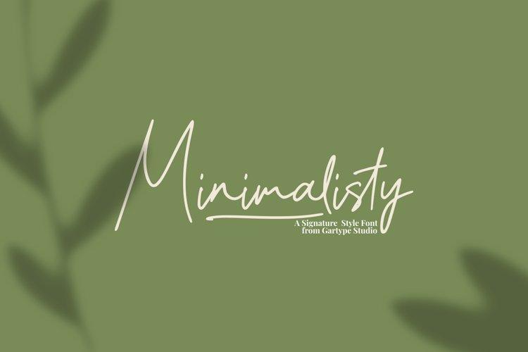 Minimalisty - Signature Style Font // Web Font example image 1