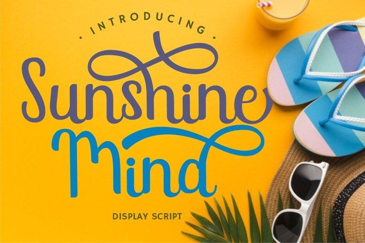 Sunshine Mind - Display Script Font example image 1