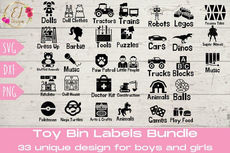 Toy Bin Labels SVG | Playroom Labels SVG
