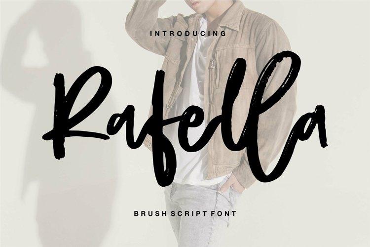 Web Font Rafella - Brush Script Font example image 1