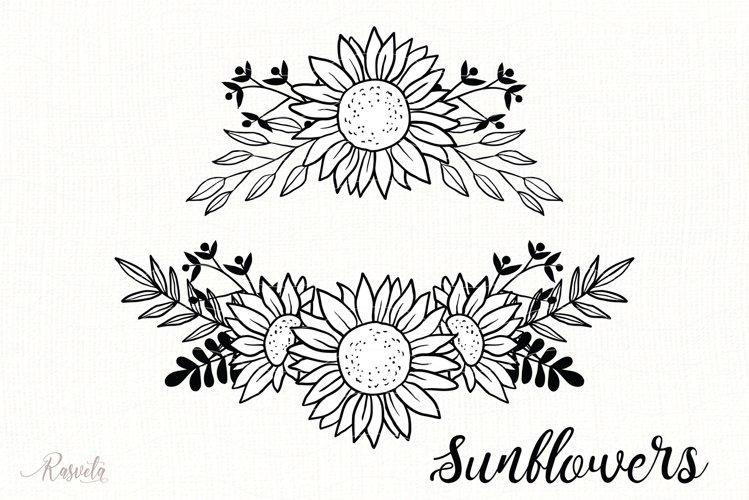 Sunflower Monogram Frames / 2 example image 1