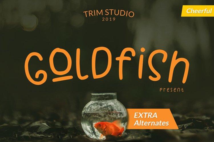 Goldfish - Playful Teacher Kids Font example image 1
