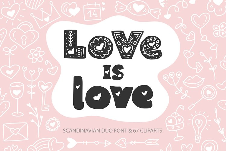 Love is Love. Font Duo & Extras. example image 1